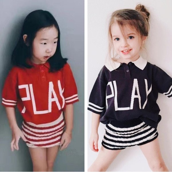2017 New Bobo Choses Kids Baby Knit Striped Play Sweater Tops Boys Girls Tee t shirt Children coat Clothes Spring Summer