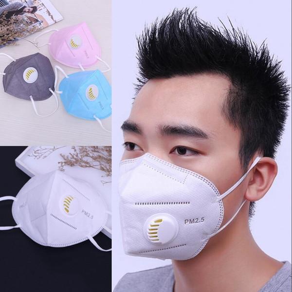 En Yeni Erkek Kadın PM2.5 Ağız Maskesi Nefes Valve Anti Haze Tek Anti Toz Maskesi Yüz maskeleri Ağız-mufla Maske