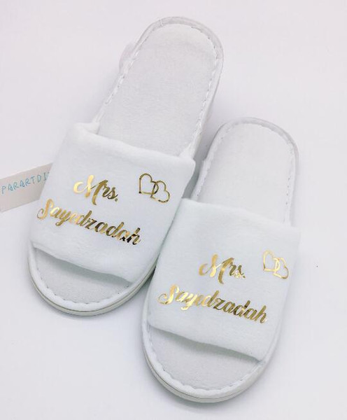excellent quality multiple colors cheapest price Personalized Gold Bridesmaid Wedding Slippers,Bridal Party  Slippers.Bachelorette Party Favors Gifts,Wedding Favor. Unique Favors  Unique Favors For ...