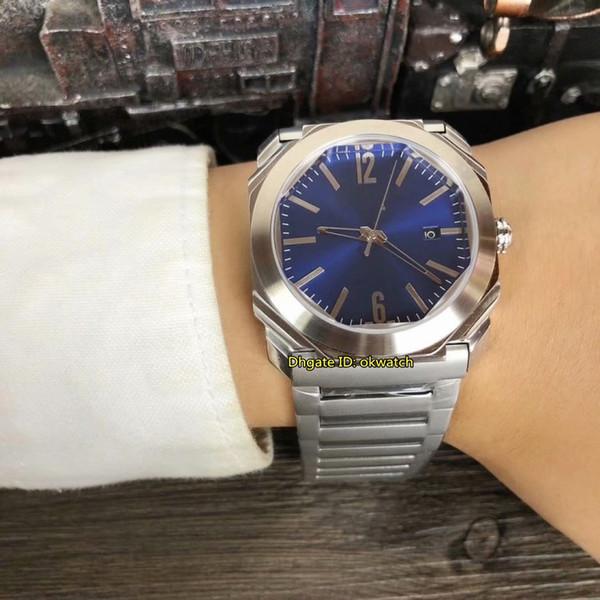 4 стиля Высокого Качества Часы 41 мм OCTO 2813 Автоматические Мужские Часы 102856 Синий Циферблат из Нержавеющей Стали 316L Ремешок Мужские Часы