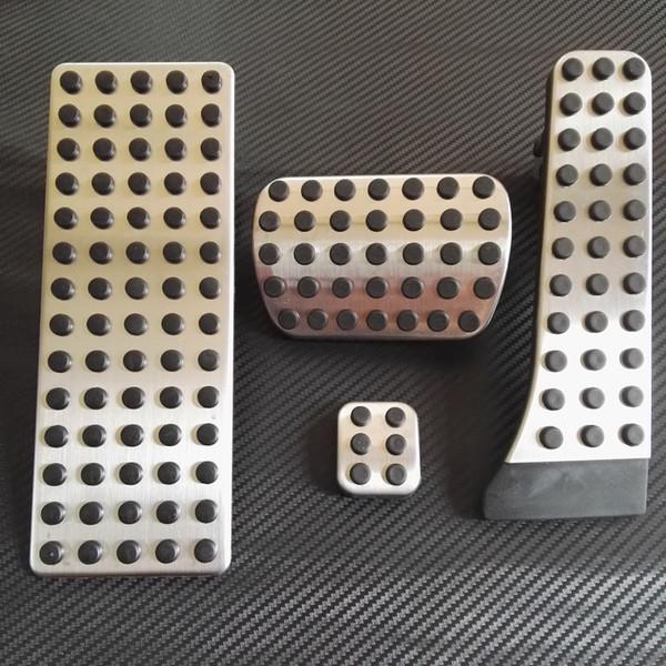 AT Foot Rest Pedal Pad Set For BENZ W204 W212 C63 E63 C350 AMG GLK 300 GLK350