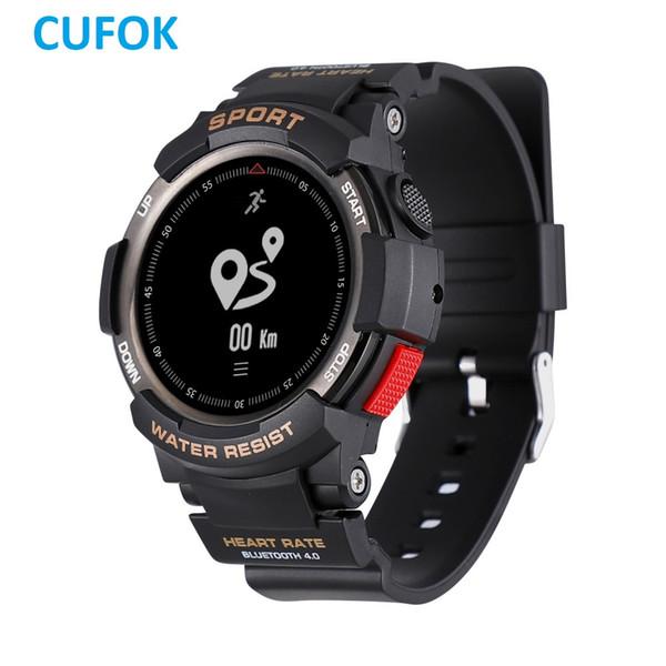 CUFOK F6 Bluetooth Relógio Inteligente rastreador de Fitness Smartwatch IP68 À Prova D 'Água Esportes Ao Ar Livre Relógios Faixa de Freqüência Cardíaca para Android ios