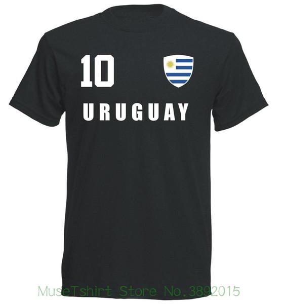 T-shirt Uruguay Wm 2018 Schwarz Trikot Fu? Ball Nr All 10 Sportsy T-shirt Fashiont Shirt Spedizione gratuita