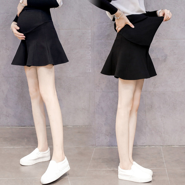 1b6699abf73d4 Sexy Mini Skirts for Maternity Women Autumn Winter Korean Fashion Clothes  for Pregnant Women Pregnancy Belly Bottoms