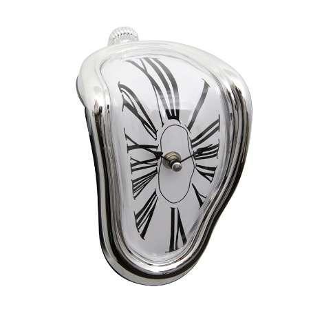 Mesa de escritorio de novedad Relojes de fusión Pared de ángulo recto Alarma de cabecera Reloj moderno distorsionado