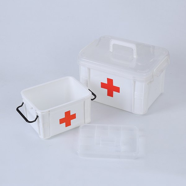 Household Medical Kit Plastic Storage Boxes Makeup Organizer Storage Container For Sundries Portable Home Office Storage