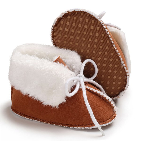 Baby Girl Shoes Winter Soft Sole Anti-Slip Warm Snow Boots Toddler Prewalker Bootie shoes for Infant BABY 7 COLORS