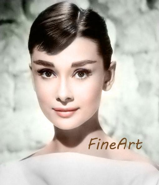 hand-painted oil wall audrey hepburn home décor famous portrait painting reproduction good quality home goods wall art Kungfu Art