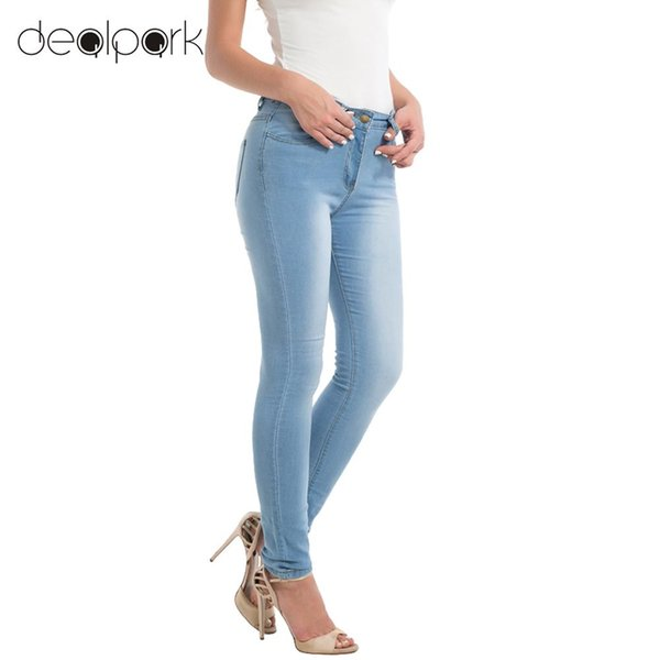 2018 Sexy Girls Plus Size Pants XXXL Women Skinny Denim Jeans Classic High Waist Washed Slim Pants Tights Pencil Trousers female
