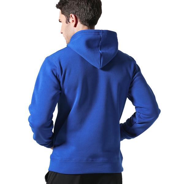 Marque Hommes Casual Sweats À Capuche Sweat Couleur Unie Impression Tendance Polaire Coton Slim Pull Manteau Vêtements Chauds Usine Outlet VENTE CHAUDE