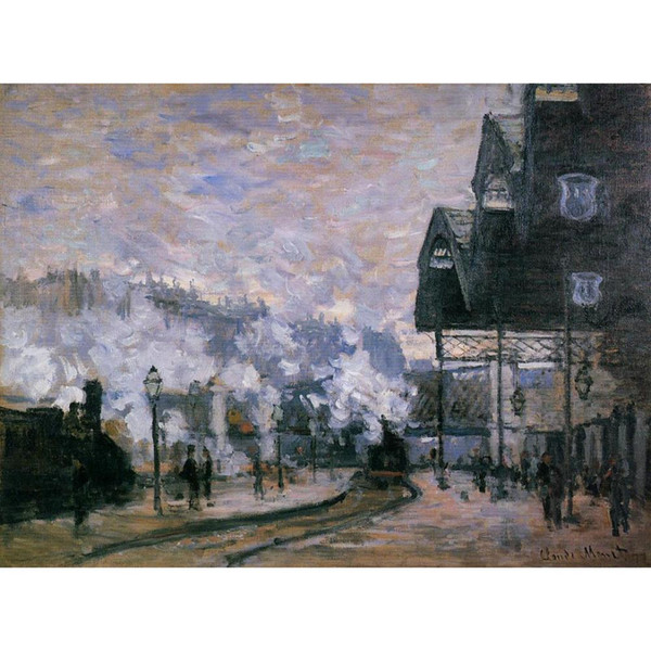 Wall Art Oil Painting Saint-Lazare Station, the Western Region Goods Sheds Claude Monet famous artwork on Canvas Hand painted