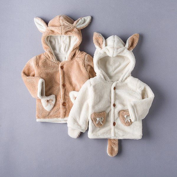 fashion children clothes jacket new style baby boy & girls autumn winter fashion cartoon bear Cashmere thicken warm coat