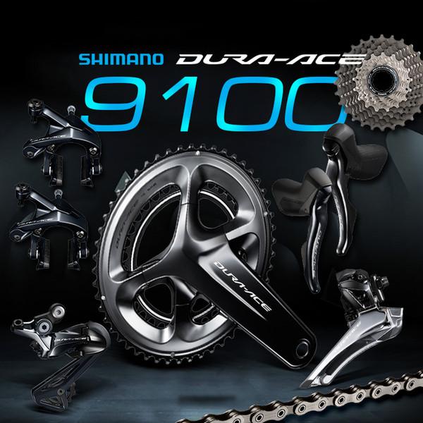 90614d39476 Shimano DURA ACE 9100 R9100 2x11 Speed 53x39T 50x34T 52x36T 170 172.5mm  Groupset Kit for