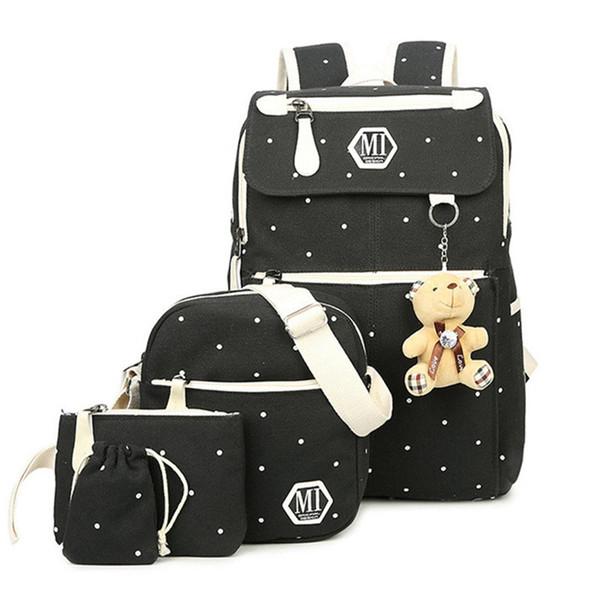 School Bags for Teenagers Girls Women dot printing Backpack Ladies Canvas shoulder bag Female Back Pack laptop schoolbag