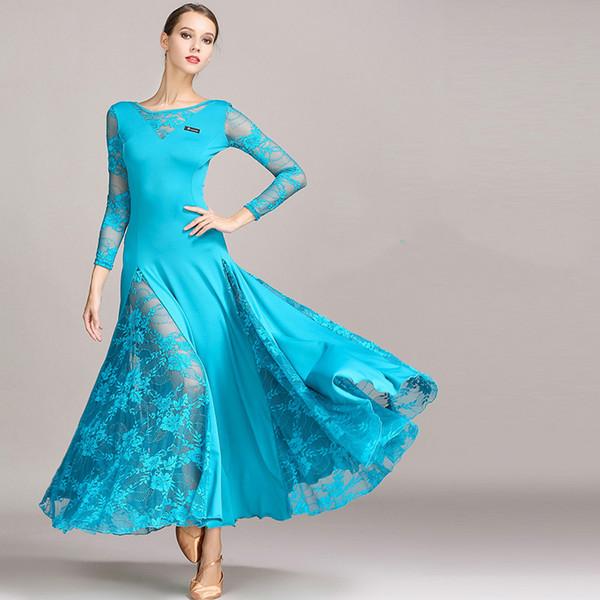 Moderne Röcke und Kleider passt Walzer Gesellschaftstanz Tango Ballsaal Tanzkleidung