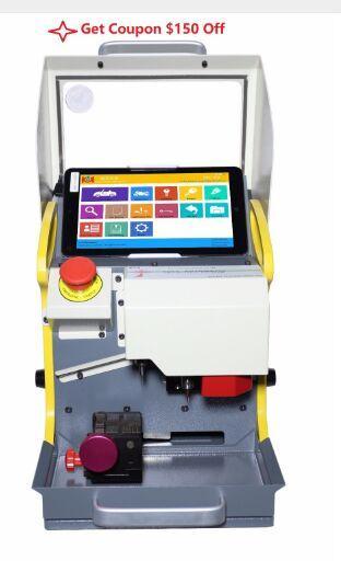 2018 New 8.3 Inch automatic key cutting machine SEC-E9 portable smart duplicate car key cutting machine SEC E9 Multi-Language