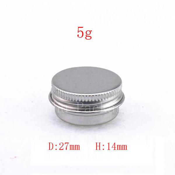 200pcs/lot 5g Mini Aluminum jar cream sample tin 5cc cosmetic lip balm container small metal pot ,aluminum bottles wholesale