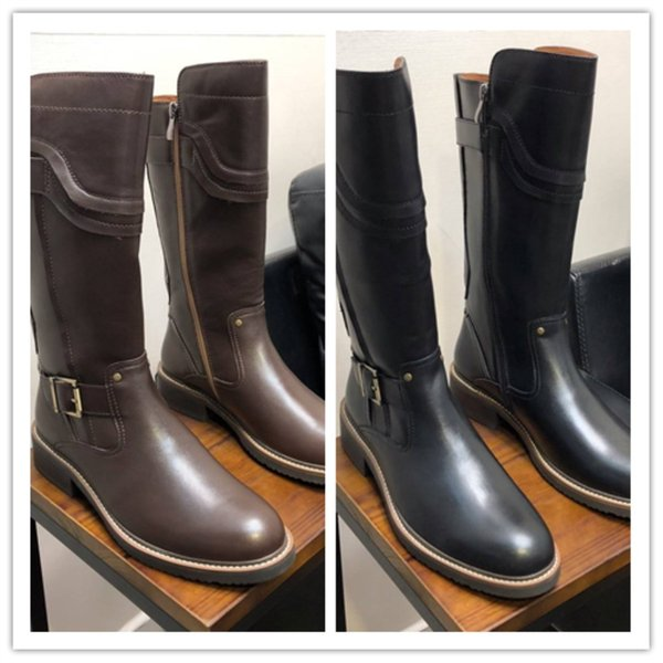 Import top quality leather goods Top cowhide vamp original edition custom Trend fashion Long boots for men