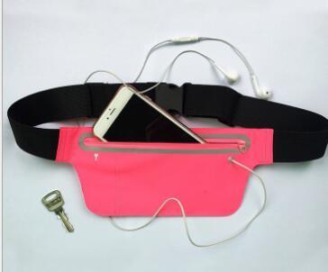 Esportes do telefone móvel pacote de cintura bolso da cintura Ultra Slim pacote de cintura invisível à prova d 'água moda fitness reflexivo