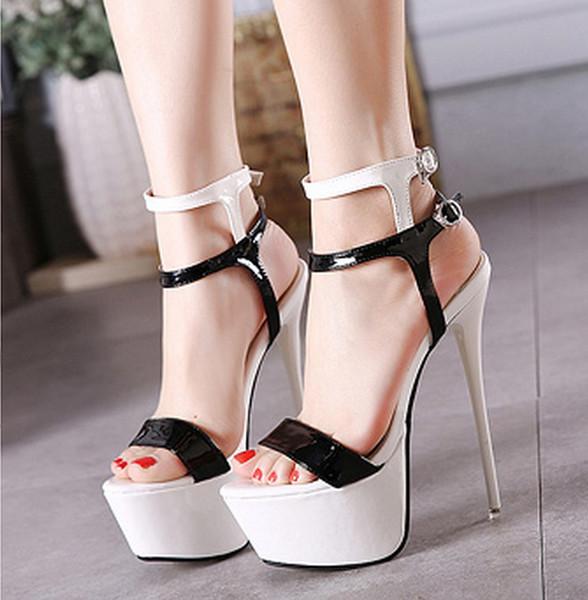 2755567f32bbf Großhandel 2018009 Frauen High Heeled Schuhe 16cm Hohe Qualität ...