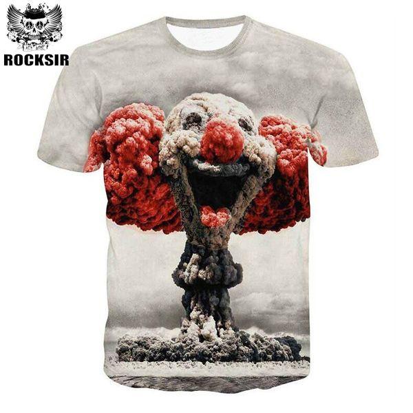 Männer Frauen 3d T-shirt Clown Print Kurzarm T-Shirt Männer Modemarke Digitaldruck Sommer Runden Kragen Tops Tees Plus Größe
