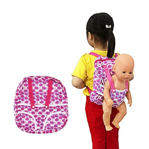 Mochilas Infantis Children mini backpacks for girls Backpack & Doll Carrier Sleeping Bag For 18 American Girl Clothes children