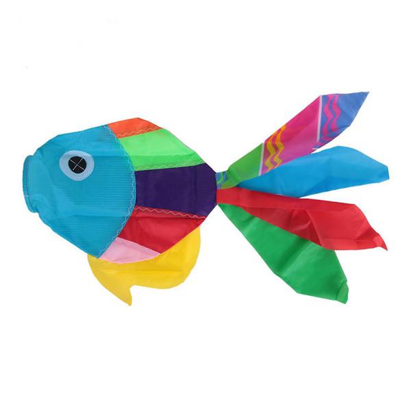 Nuovo 70 centimetri di lunghezza multicolore 3D Aquiloni carino pesce-tipo di coda di aquilone code aquilone accessorio facile controllo volare aquilone per divertimento all'aria aperta