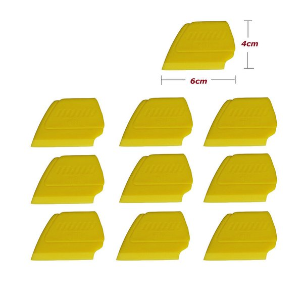 POM vinilo plástico enjugador coche Mini tarjeta amarilla dura para calcomanías de coches gráficos etiqueta engomada del abrigo herramientas