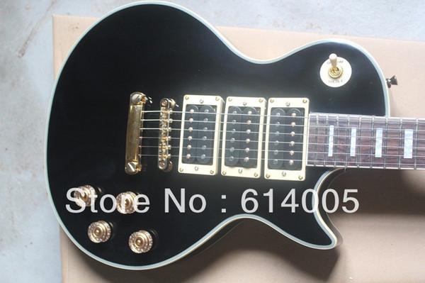 2014 new! Peter Frampton Signature Guitar, maple Fingerboard, LP Electric Guitar, 3 Pickups Black Beauty Guitar