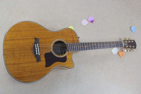 Free Shipping High Quality Natural K24CE Acoustic Guitar Top Musical instruments 6 strings electric guitar