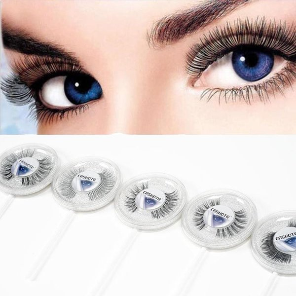 25 Styles Lollipop False Eyelashes Natural Cross Long Eye Lashes Fake Faux Eyelashes Extension High Quality Low Price How Much Are Eyelash Extensions