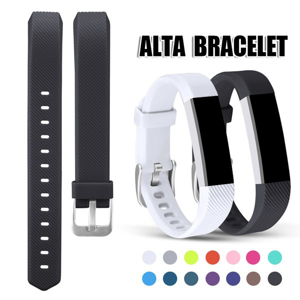 For Fitbit Alta Bands Silicone Soft Replacement Straps Wristband with Metal Buckle Clasp for Fitbit Alta Smart Fitness Tracker