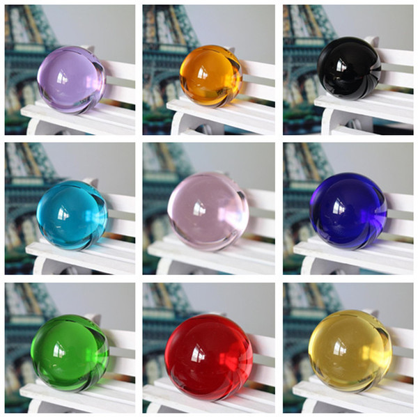 Wholesale Diameter:50mm High quality K9 All sorts of color Glass ball Quartz crystal ball feng shui cure fitness ball ward off bad luck