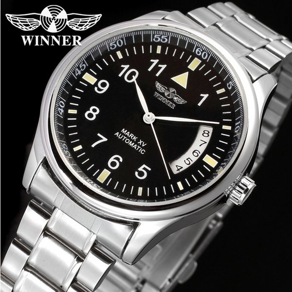 Winner Classic Design Wrist Watch Men Watches Top Brand Luxury Mechanical Watch Stainless Steel Fashion skeleton erkek kol saati S917