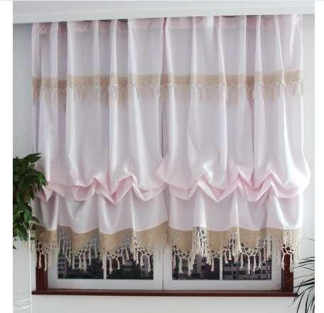2019 New Pastoral Style Adjustable Balloon Curtains For Living Room  Beautiful Curtains With Lace For Window Treatment Curtain From Gravityhome,  $52.45 ...