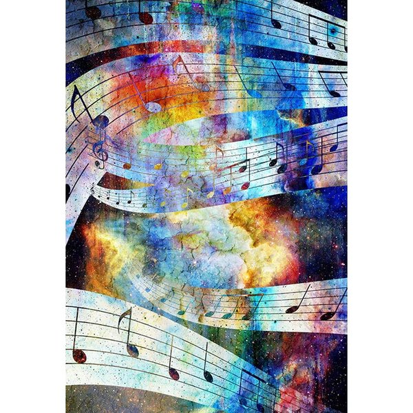Colorful Painted Music Notes Backdrop for Photography Newborn Baby Shower Props Kids Children Graffiti Photo Studio Backgrounds