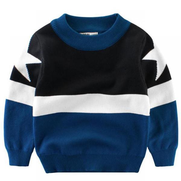 Nuovo 2018 Primavera Autum Neonati maschi Moda maglione stella a cinque punte Modello di vestiti per bambini Multicolor Abbigliamento per bambini 1-7Y