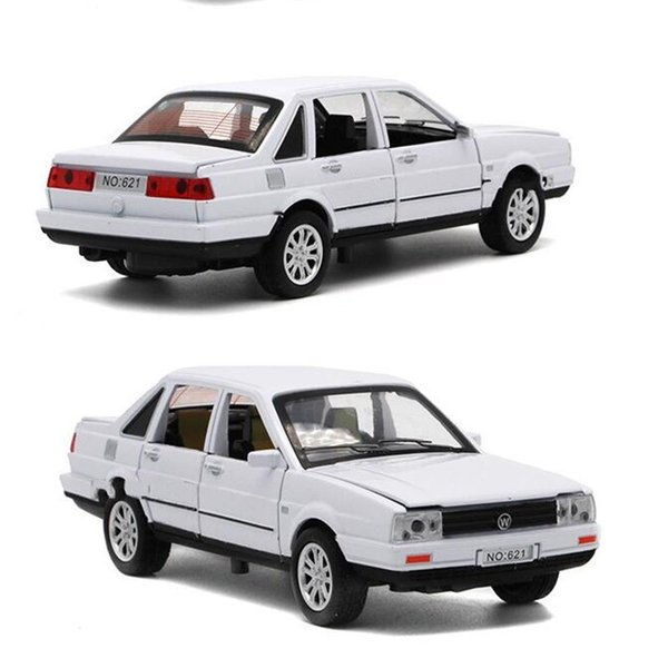 Alaşım Araba Oyuncak 1:32 Çocuk Diecast Model Aydınlatma Müzik Kapıyı Açın Geri Çekin Arabalar Oyuncaklar Çocuklar Için 25 5hx WW