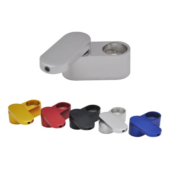 Brand New Creative Metal Portable smoking Pipes Double Spiral Aluminum Alloy Colorful Mini Small Bowl Pipe