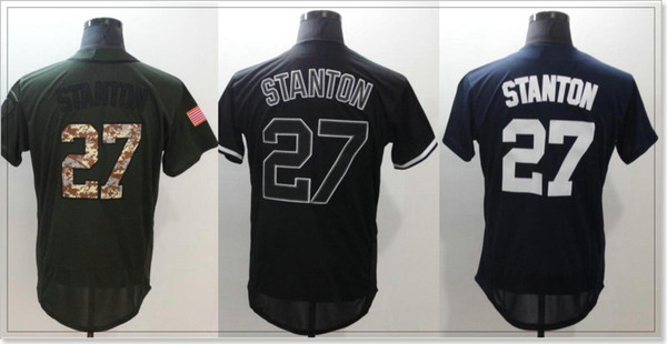 New York team #27 Giancarlo Stanton Cheap Sports Shirts Mens Baseball Pro Jerseys Uniforms Custom Stitched Embroidery Sz M-XXXL On Sale