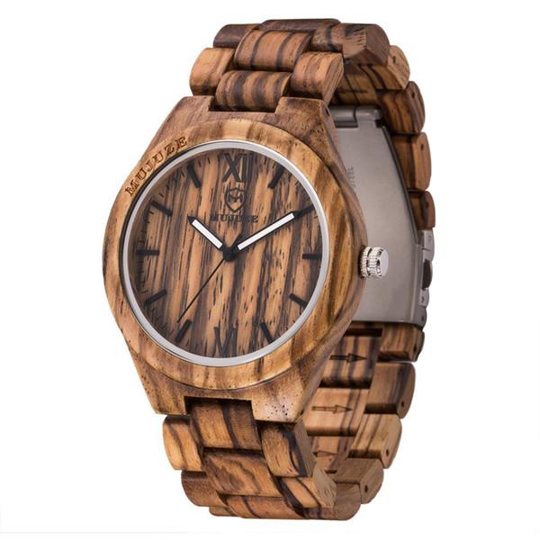 lo último ea523 981b1 Compre Relojes Hombre Mujer Relojes Unisex Minimalista Minimalismo Reloj De  Madera Para Hombre Cuarzo Negro Color De Moda De Sándalo Superior A $40.61  ...