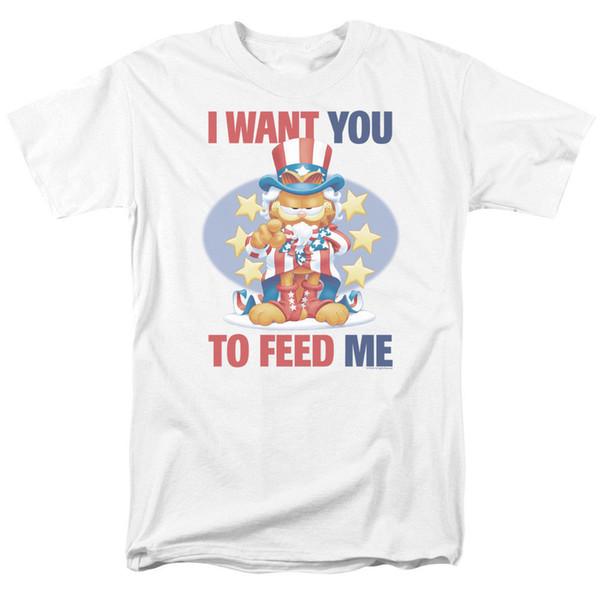 Garfield I Want You T-shirts & Tanks for Men Women or Kids Men T Shirt 2018 Fashion top tee