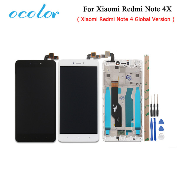 isplay screen 5.5inch ocolor For Xiaomi Redmi Note 4X LCD Display+Touch Screen With Frame Front LCD Housing Faceplate Frame Bezel Replac...