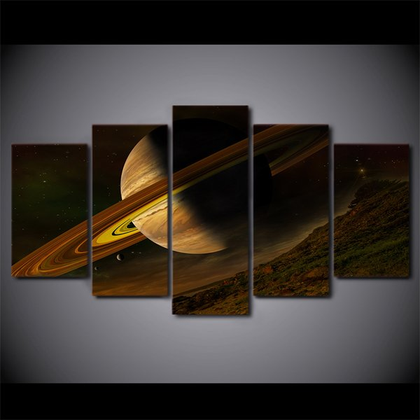 HD Printed 5 Piece Canvas Art Science Space Fantasy Planet Canvas Painting Wall Pictures for Living Room Free Shipping ny-7452C
