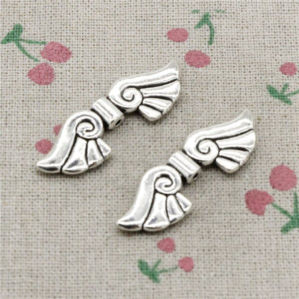 21pcs Charms angel wings bead 14*44*5mm Tibetan Silver Vintage Pendants For Jewelry Making DIY Bracelet Necklace