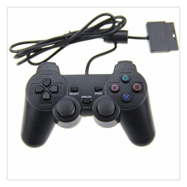 Prix de gros Filaire Contrôleur pour PS2 Joystick Gamepad Pour Console De Jeu Playstation 2 Noir Vente Chaude
