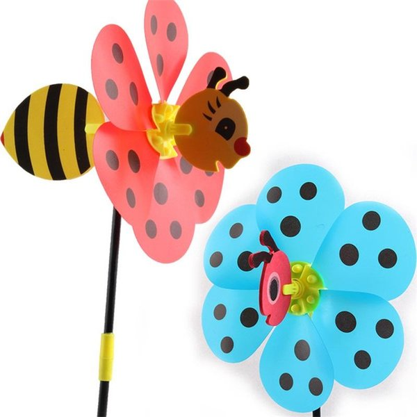 Cartoon Stereo Whirligig Wind Spinner Bumble Bee Ladybug 3D Windmill For Children Kids Puzzle Funny Toys Novelty 1 99kl BB