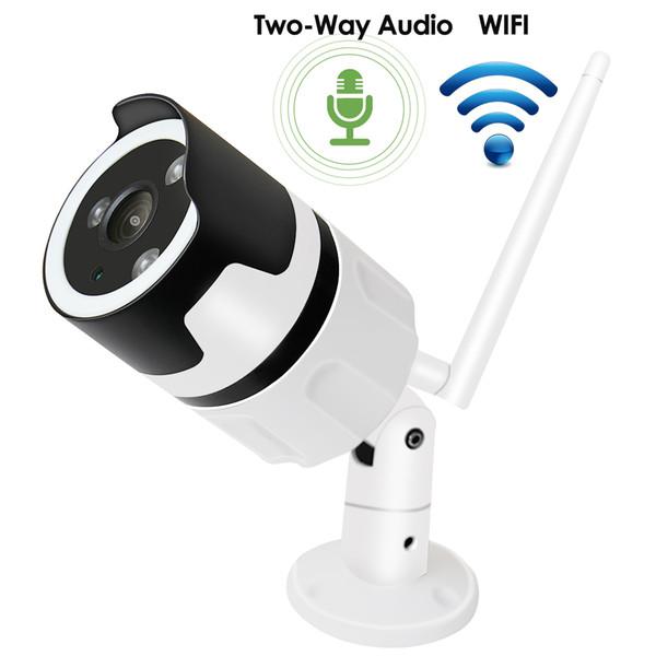 Wifi câmera ip 1080 P Áudio Bidirecional Onvif 2.0MP HD Ao Ar Livre À Prova de Intempéries Infravermelho Night Vision Segurança Câmera de Vigilância De Vídeo