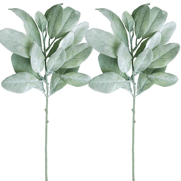 Christmas Greenery Images.2019 Artificial Flocked Lambs Ear Leaf Spray In Silver Green Artificial Greenery Holiday Greens Christmas Greenery Wedding Bouquet Artifici From