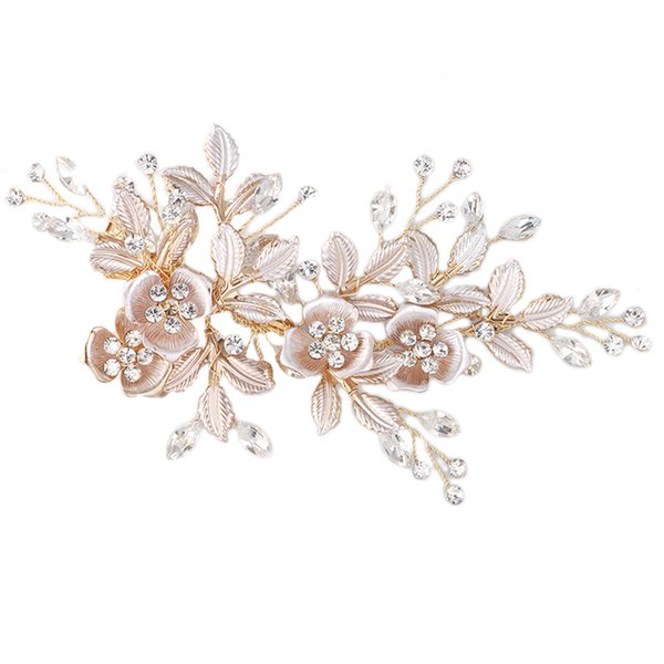 1pc Hair Clips Flower Crystal Headpiece Headwear Wedding Accessories Hair Pin for Princess Bridesmaid Bride C18110801